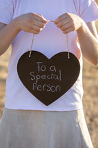 To a Special Person Written on Chalkboard