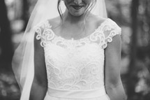 torso of a bride