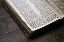 Bible on Wooden Background