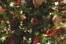 ornaments on a Christmas tree