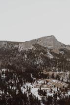 snow on a mountainside