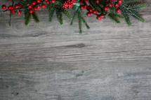 Christmas greenery background