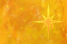 Christmas star on yellow