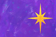 Christmas star on purple