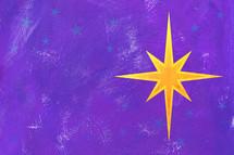 Christmas star on purple