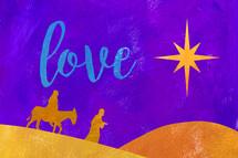 Acrylic Christmas holy family