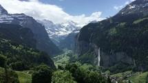 Green valley in Switzerland