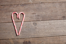 candy canes in the shape of a heart