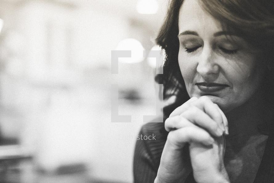 woman in prayer