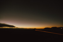 Saddle Road at night