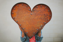 red metal heart