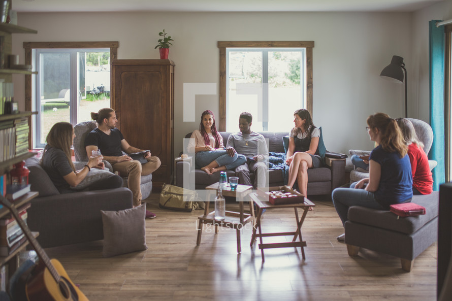 young adult Bible study group