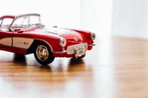 model car on a table