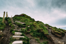 steps on the cliffs of Moher