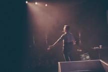 preacher on stage