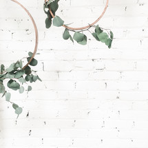 twiggy circles with eucalyptus