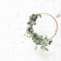 twiggy circle with eucalyptus