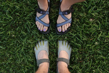 sandals and toe shoes