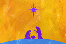 holy family nativity painting