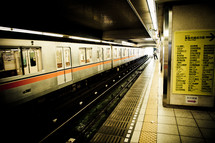 subway train at the station