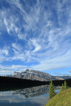wispy clouds over Mount Rundle