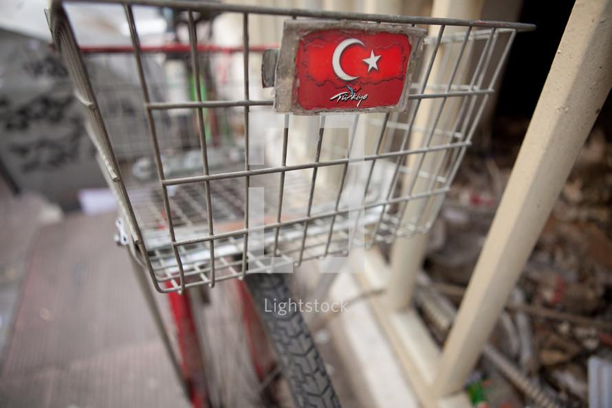 Turkish Flag, marked with tourism of Turkey logo