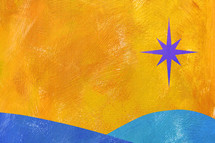 acrylic of star of Bethlehem
