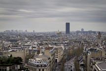 Paris from the 'Arc de Triomphe