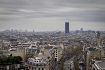 Paris from the 'Arc de Triomphe