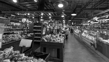 inside a grocery store