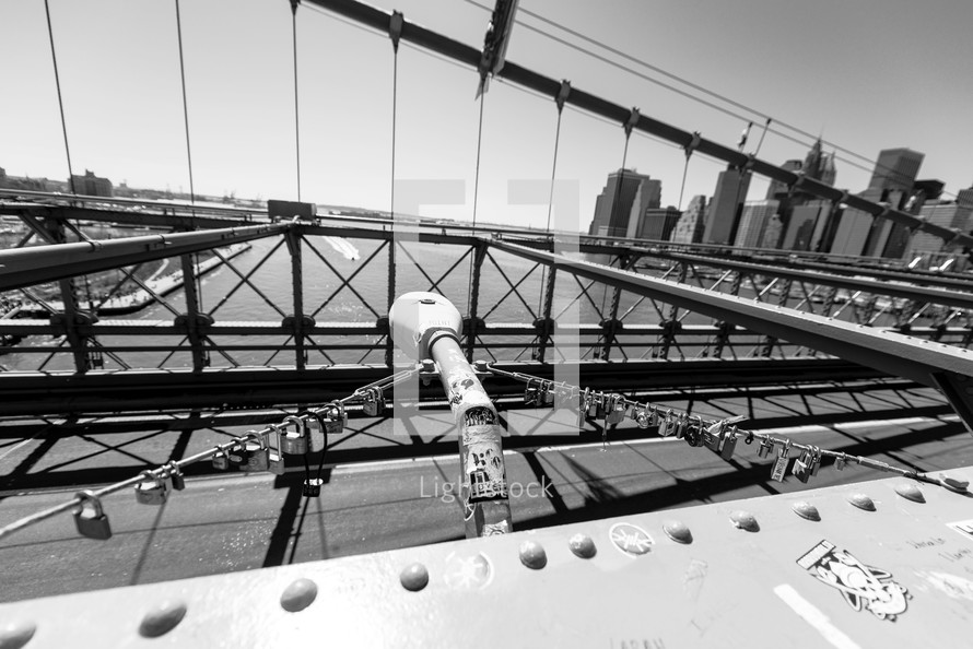 support cables on the Brooklyn bridge
