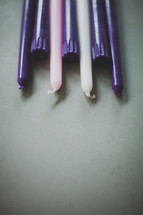 purple, pink, white, candles, advent