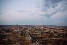 aerial of Cappadocia