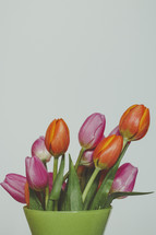 colorful spring flowers in a vase