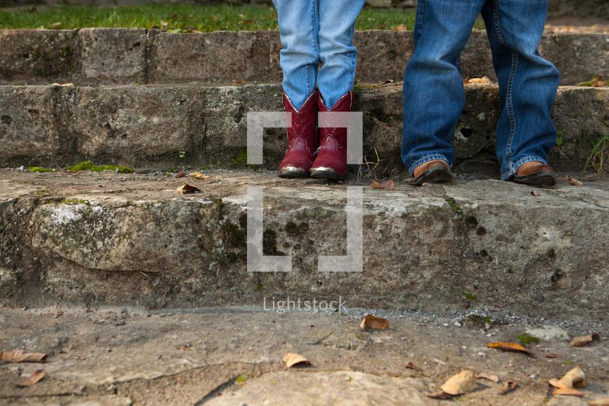 cowboy boots and denim