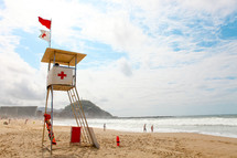 Beach lifeguard post