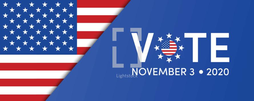 US Presidential election 2020 Vote November 3, 2020