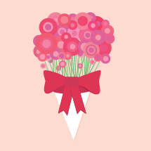 bouquet of flowers for mothers day