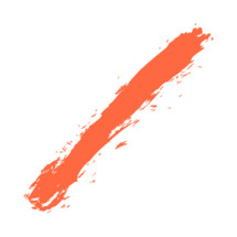 The red paint brush stroke is drawn by hand. Paintbrush drawing on canvas. Hand-drawn brushstroke orange texture on paper.  Rectangle shape. The graphic element saved as a vector illustration in the EPS file format for used in your design projects.