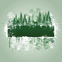 Winter woods grunge graphic