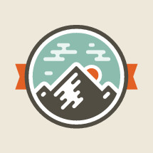 Mountain badge emblem