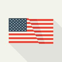 Flat American Flag illustration.