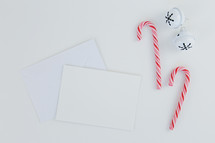 candy canes, bells, and envelopes