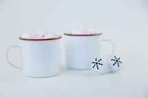 hot cocoa mugs and bells