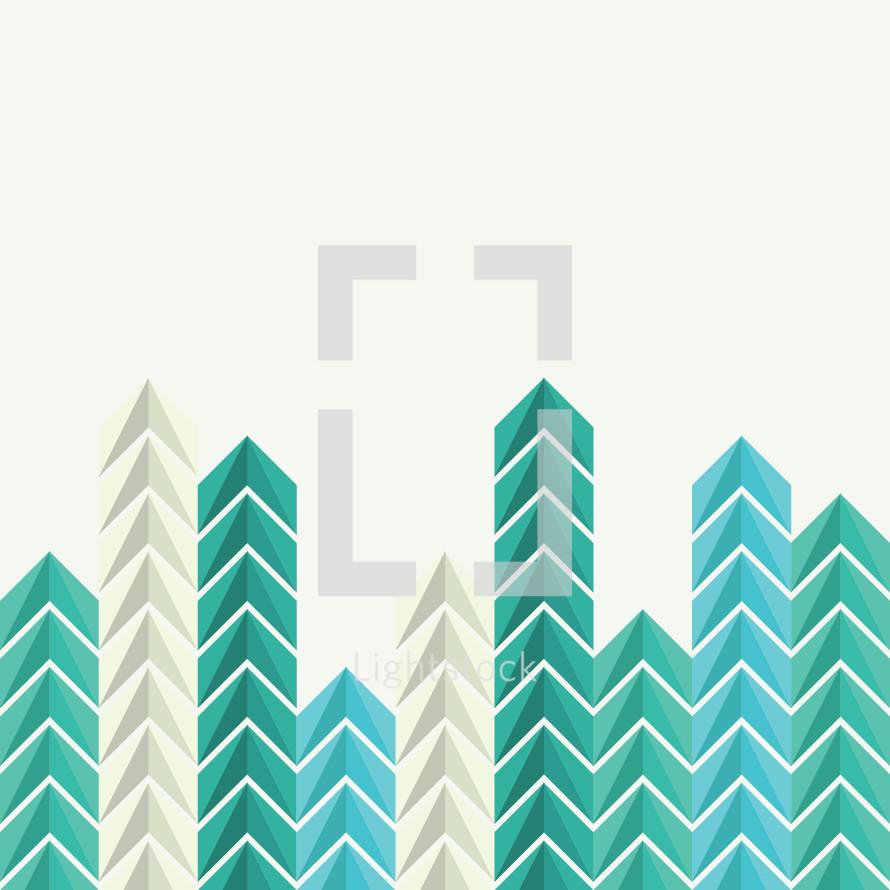 colorful arrows border