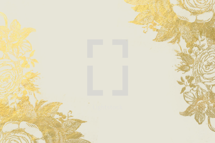 floral peony border
