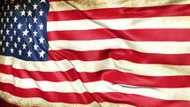rustling American flag background