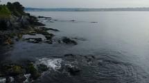 rocks along a shoreline