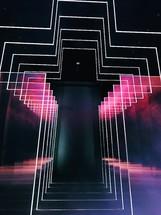 abstract 4D cross