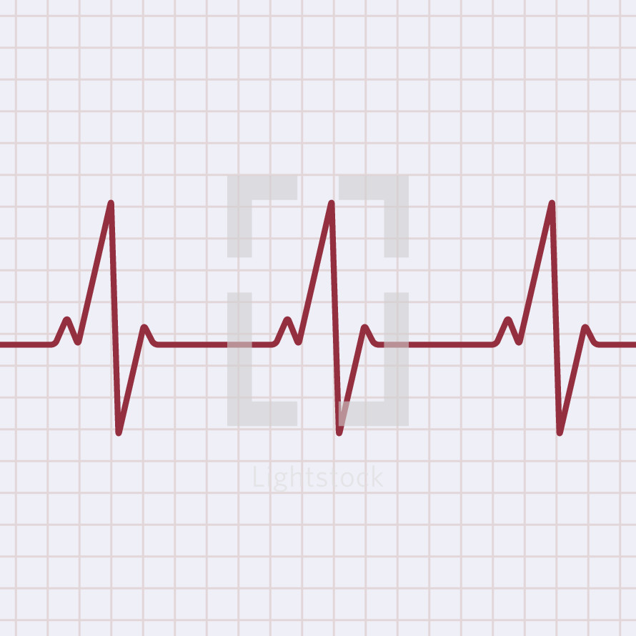 heart rate monitor illustration.